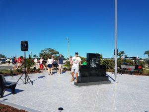 Laser etched Eagle America Veterans memorial , Ellenton, FL
