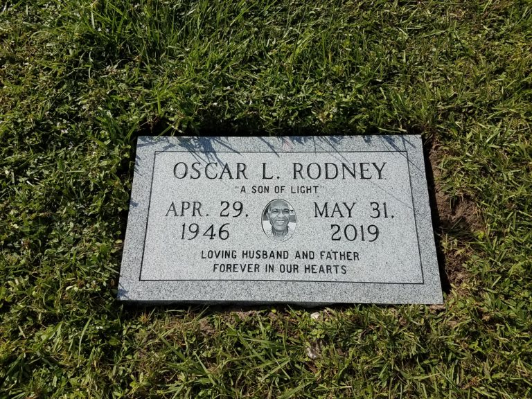 black white photo memorial royal palm cemetery