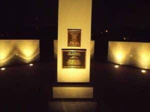 Vet Memorial at night Oldsmar
