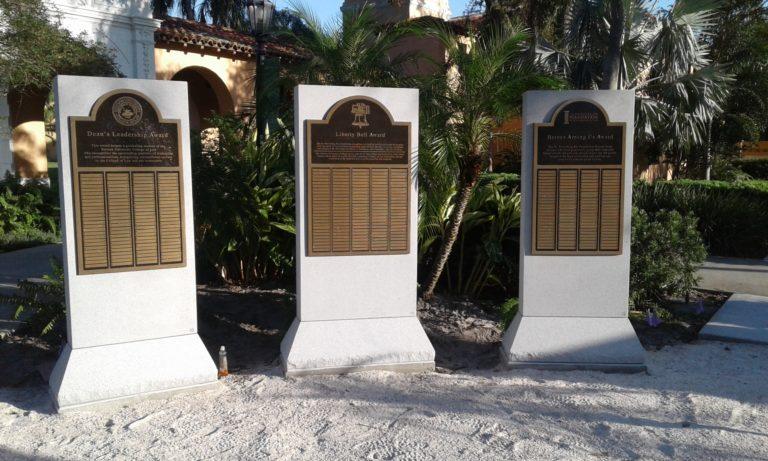 Stetson University award plaques