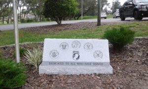 Veterans all branches of service Memorial Monument