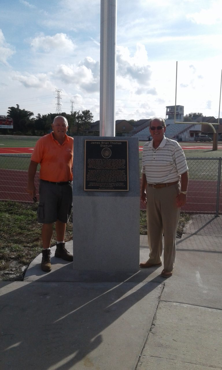Clearwater Central Catholic James Brian Thomas Stadium memorial