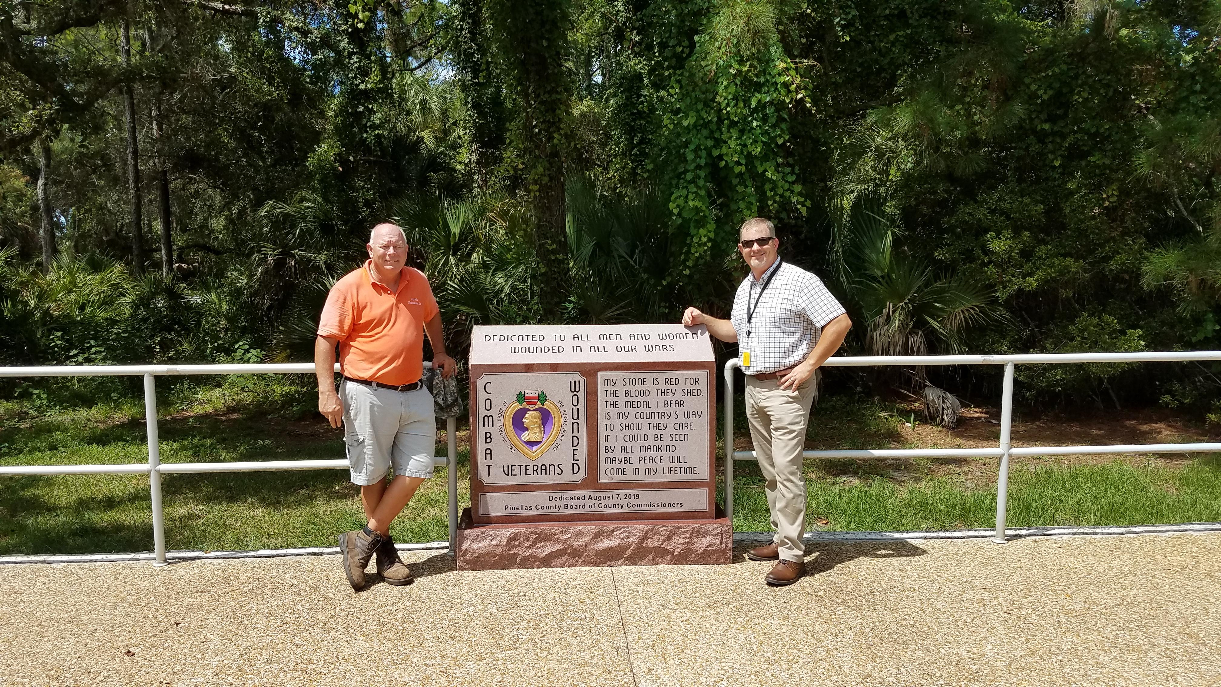 Purple Heart Memorial Pinellas County War Veterans Memorial Park