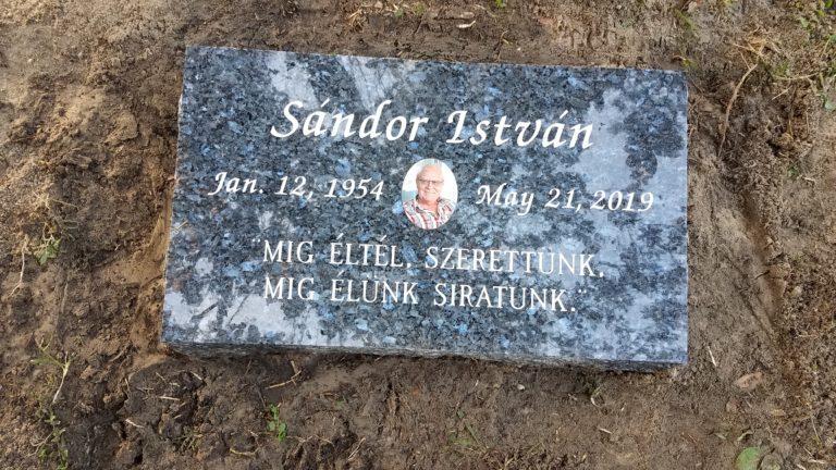 Blue Pearl bevel marker memorial , Sunnyside Cemetery